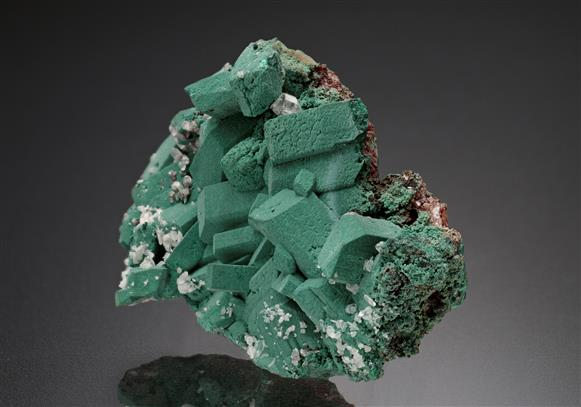 Rosasite pseudomorph after Azurite with Cerussite