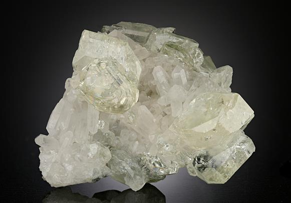 Datolite on Quartz