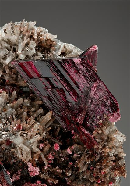 Erythrite with Spherocobaltite