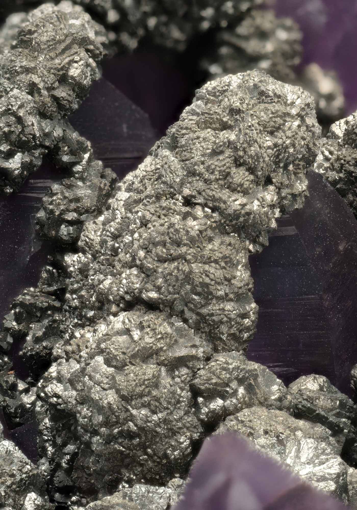 Amethyst with Marcasite