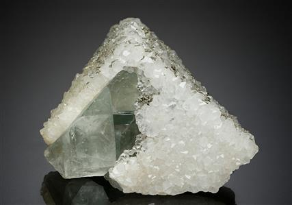 Fluorite wth Quartz and Pyrite