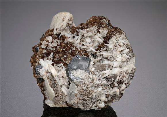 Galena with Baryte and Siderite