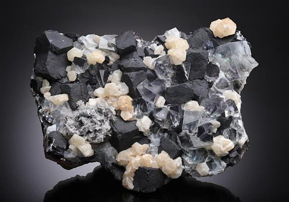 Fluorite with Calcite and Galena