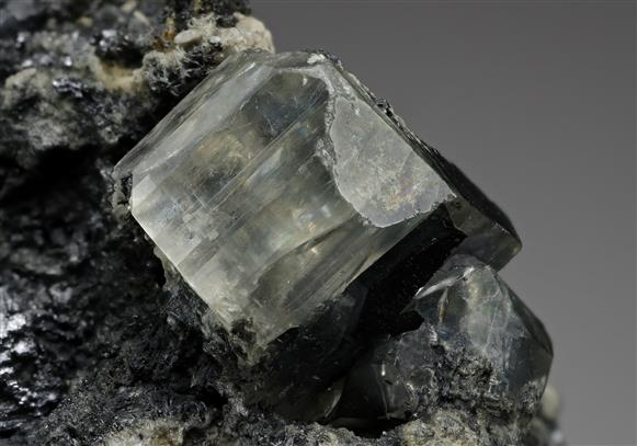 Phosgenite on Galena and Baryte