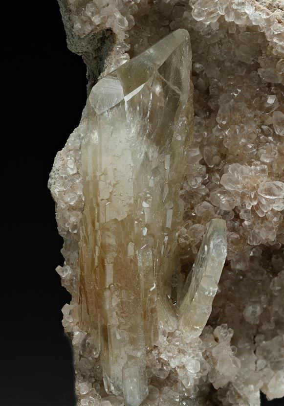 Baryte on Calcite
