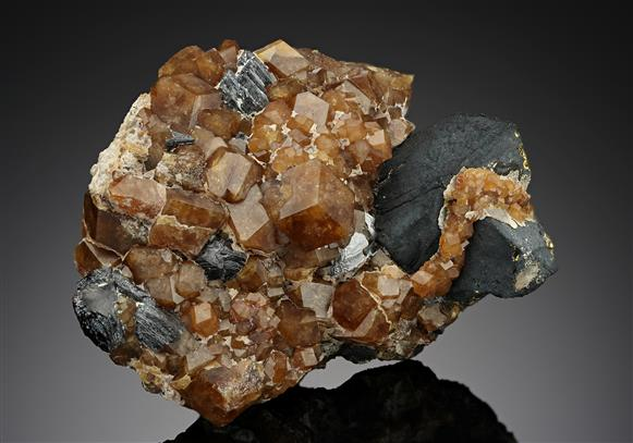 Andradite on Chalcopyrite