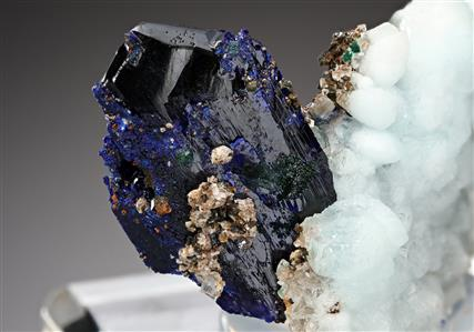 Azurite with Calcite