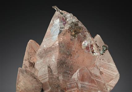 Native Copper in Calcite