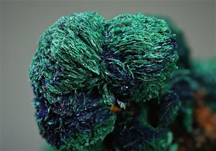 Azurite with Malachite ps. after Azurite