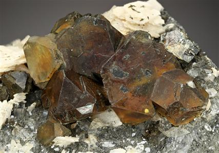 Sphalerite with Calcite and Baryte