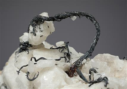 Native Silver on Calcite