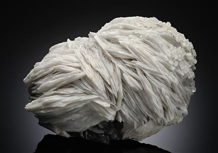 Baryte with Calcite on Galena