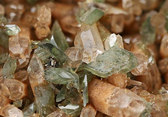 Ludlamite with Quartz and Siderite