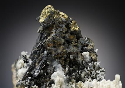 Lillianite with Cosalite and Chalcopyrite