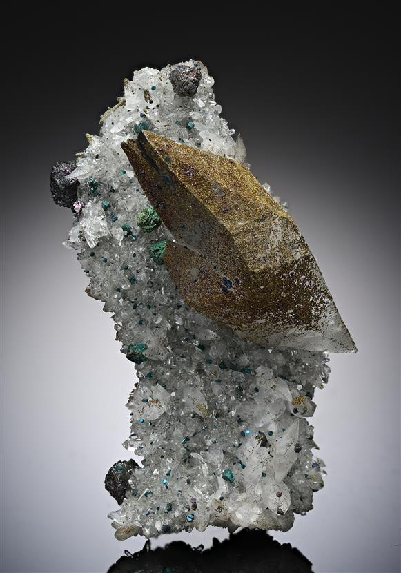 Calcite with Bornite