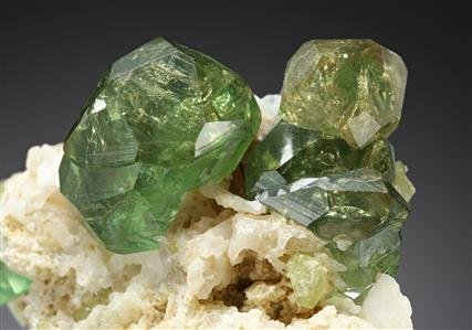 Andradite var. Demantoid (Garnet Group)