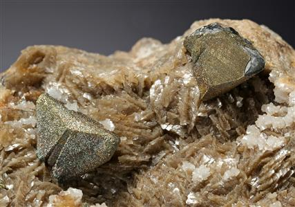 Chalcopyrite on Tetrahedrite with Siderite and Galena