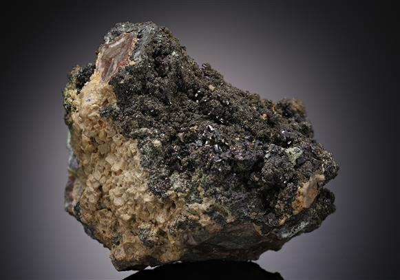 Proustite with Pyrite