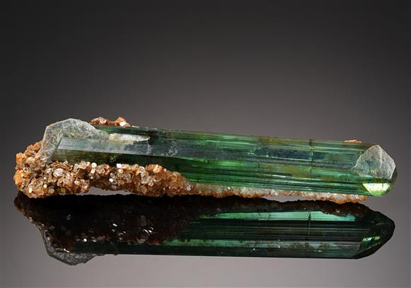 Tourmaline with Lepidolite and Albite var. Cleavelandite