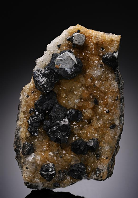 Sphalerite with Galena on Quartz