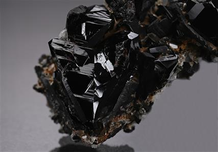 Cassiterite with Topaz and Hübnerite