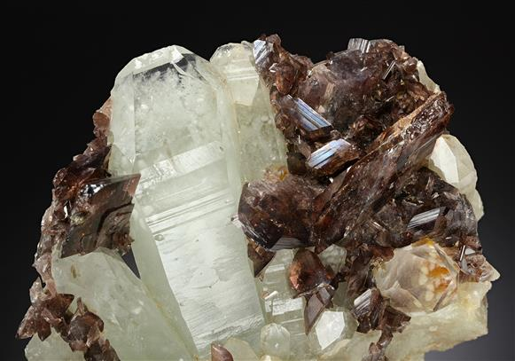 Axinite with Quartz and Epidote