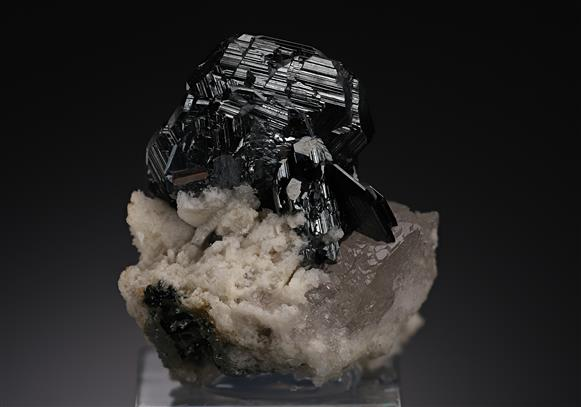 Hematite with Rutile on Quartz