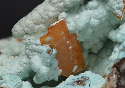 Wulfenite with Hemimorphite