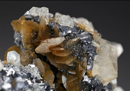 Calcite with Siderite, Galena and Sphalerite