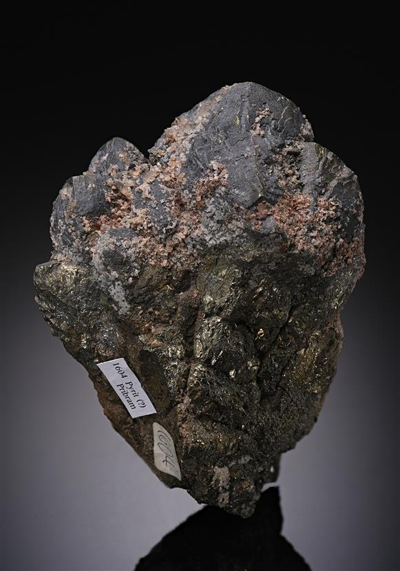 Pyrite with Galena and Calcite