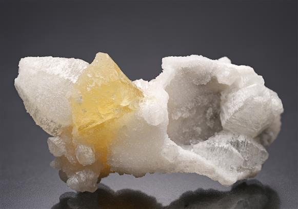 Witherite with Fluorite