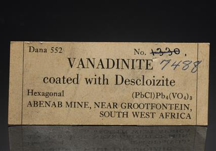 Vanadinite with Descloizite