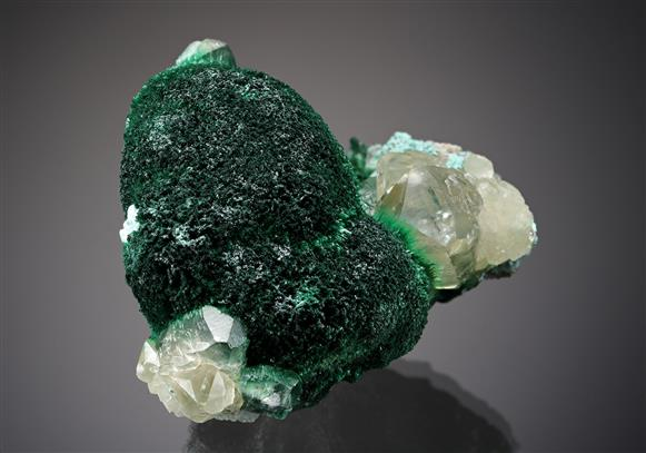 Malachite with Chrysocolla and Calcite