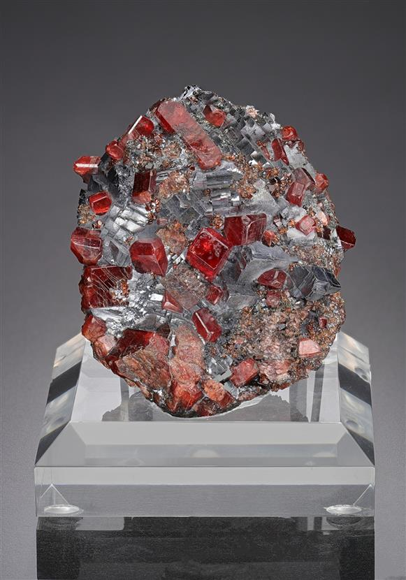 Rhodonite and Galena