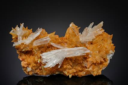 Gypsum on Calcite