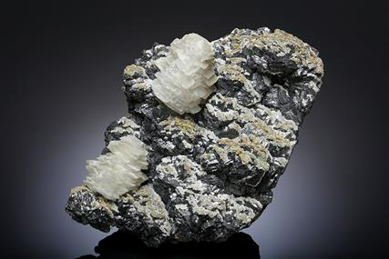 Calcite with Galena and Sphalerite