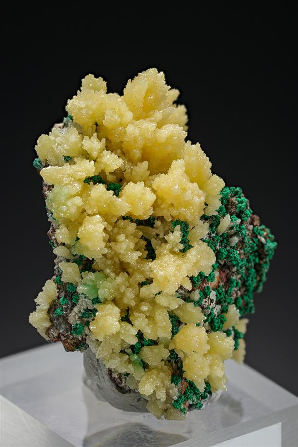 Mimetite with Malachite