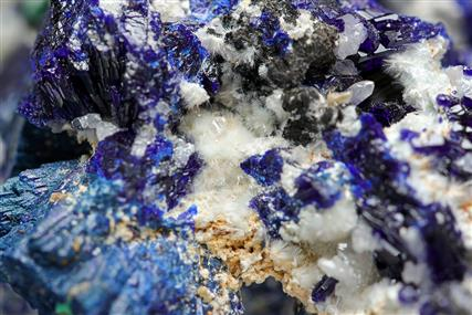 Dundasite with Azurite and Cerussite