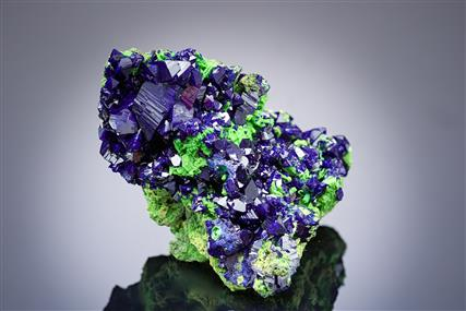 Azurite with Duftite