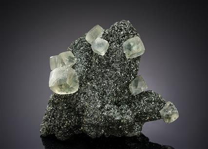 Calcite on Quartz with Chlorite