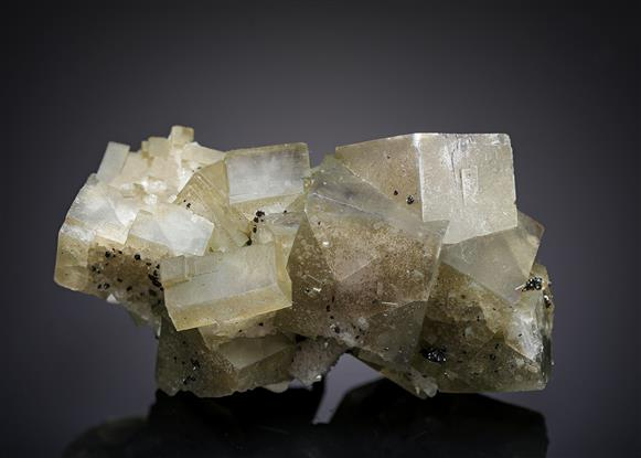 Fluorite with Sphalerite and Quartz