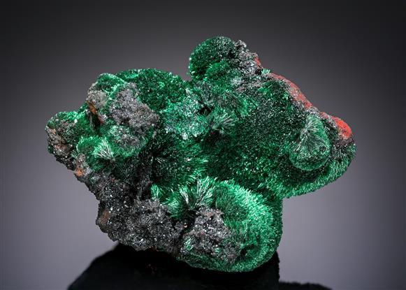 Malachite with Cuprite