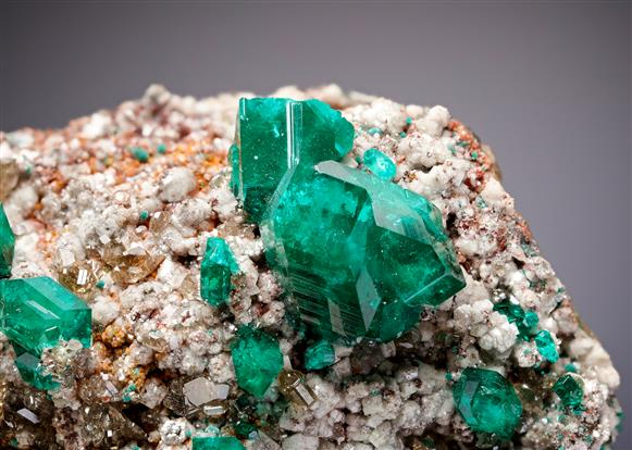 Dioptase with Cerussite