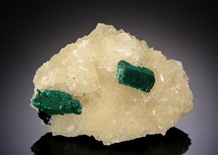 Malachite ps. after Azurite with Azurite