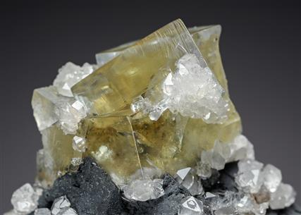 Fluorite with Galena and Quartz