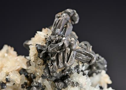 Hessite with Quartz