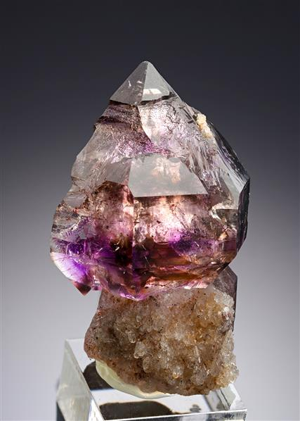 Quartz var. Sceptre Amethyst (with fluid inclusion)