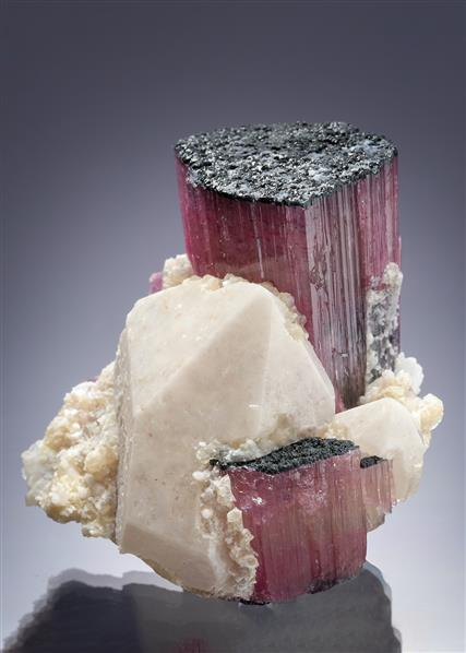 Elbaite (Tourmaline) with Quartz