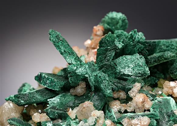 Malachite pseudomorph after Azurite with Cerussite