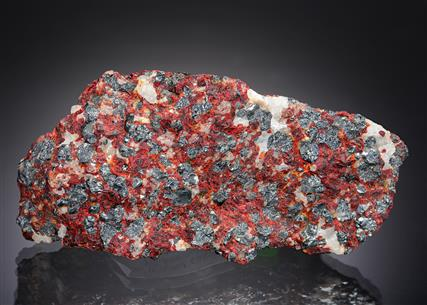 Franklinite with Zinkenite, Willemite and Calcite